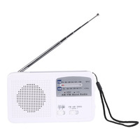 Multifunctional Dynamo Solar Battery Powered AM FM Radio With Emergency LED Flashlight Siren Support Mobile Charge