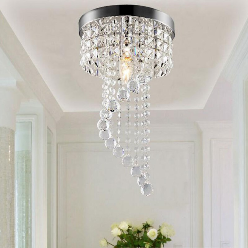 Modern lighting Circular ring Crystal 4W LED ceiling lamp Ceiling lighting Chandelier Fixture living room Lustre