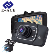 E-ACE Hidden Wifi Mini Car Dvr Full HD 1080P Video Recorder Night Vision Dvrs Auto Dash Cam Dual Camera Lens Automotive Car Cams
