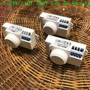 Image 5 - Interruptor de luz con Sensor de microondas, Sensor de movimiento pir, inducción, 12v/110v/220v, 360 grados, novedad