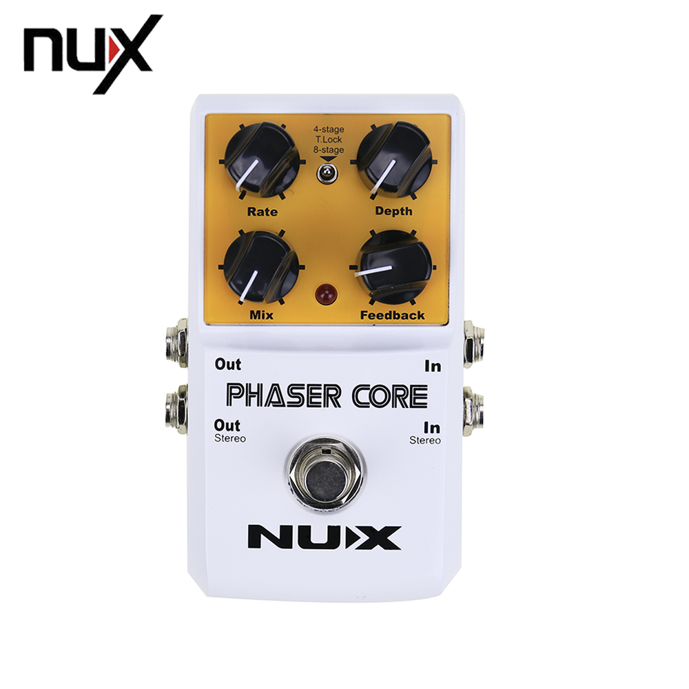 NUX AS-3 Phaser Core Phase Shifter Modulation Stomp Guitar Effect Pedal Tone Lock Preset Function True Bypass aroma adr 3 dumbler amp simulator guitar effect pedal mini single pedals with true bypass aluminium alloy guitar accessories