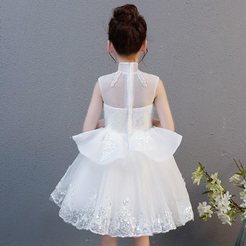 e15ea0f28a96 2018 New Luxury Baby Girls Floral Lace Princess Tutu Dress Wedding  Christening Birthday Dress Girls Clothes. sku: 32878598252