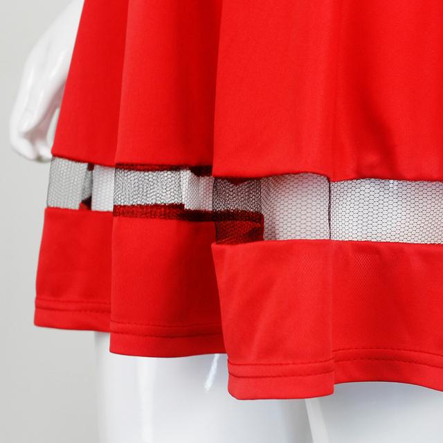 BEFORW Summer Women Dress 2017 Short Sleeve Party Dresses Fashion Casual Stitching Transparent Stripe Red Office Dress Vestidos