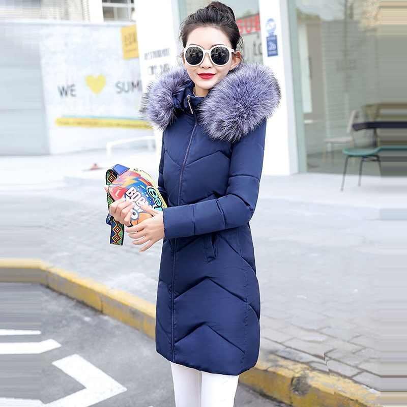 Зимняя женская куртка с воротником из искусственного меха лисы, парки 2019, зимнее пальто для женщин, плюс размер 6XL, теплая зимняя куртка для женщин, пуховик