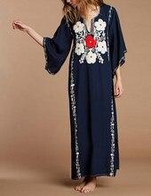 2019 Summer Plus Size Kaftan Cotton Tunic Beach Dress Cover Up Women Long Maxi Robe Boho Sundress