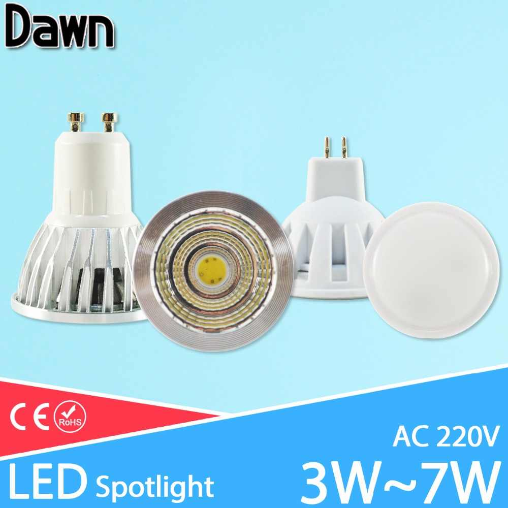 Led Lamp GU10 MR16 cob LED Bulb E27 E14 3W 5W 6W 7W AC 220V 240V lampada led aluminum LED Spotlight Energy Saving Home Lighting