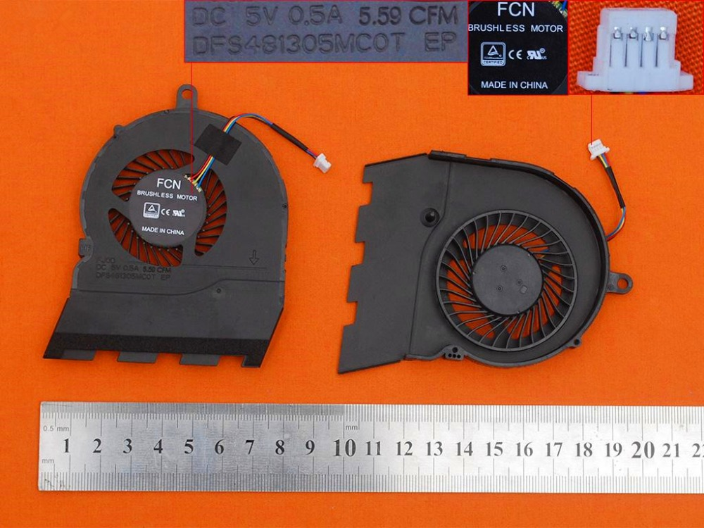 New Laptop Cooling Fan For DELL Inspiron 15G 15 5567(Original) PN: DFS481305MC0T