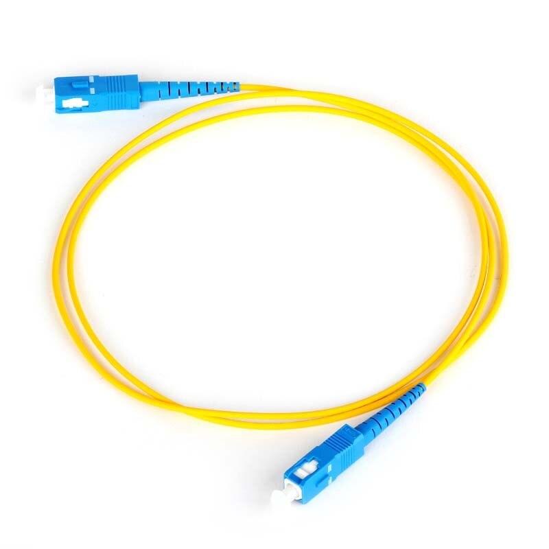 FirstFiber 3m 10pcs/bag SC UPC To SC UPC G657A Fiber Patch Cable, Jumper, Patch Cord Simplex 2.0mm SC PC TO SC PC PVC SM