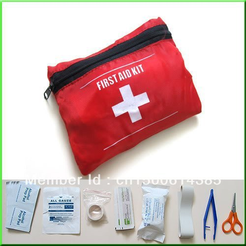 Emergency Survival FIRST AID KIT Bag Treatment Pack Travel Sports Medical