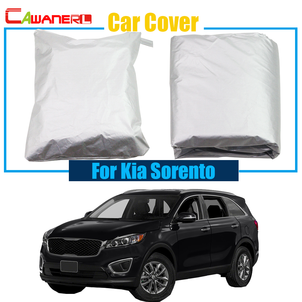 Cawanerl Car Cover Outdoor Sun Shade Snow Resistant Protection Anti-UV Cover For Kia SorentoCawanerl Car Cover Outdoor Sun Shade Snow Resistant Protection Anti-UV Cover For Kia Sorento