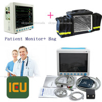 CONTEC Portable Patient Monitor Vital Signs 6 parameter ICU 12.1screen,free handbag CMS8000