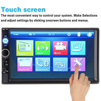 Doublel Din 7 Inch Car MP5 Player FM Radio Support Card Reading Function Bluetooth Hands Free