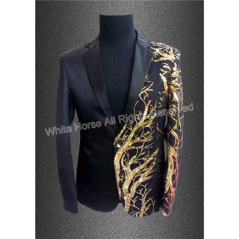2015 Latest Unique Shining Sequin Jacket  Men Suit Sequined Jacket for Men Stage Black Blazer mens tuxedo suits 건달 조폭 옷