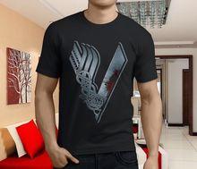 New Popular Vikings TV Series Movie Mens Black T-Shirt Size S-3XL