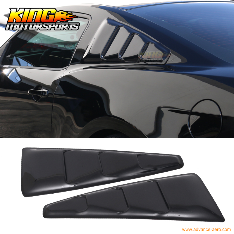 For 2005-2014 Ford <font><b>Mustang</b></font> Quarter Panel Translucent Smoked Tinted Window Side Louvers USA Domestic Free Shipping Hot Selling image