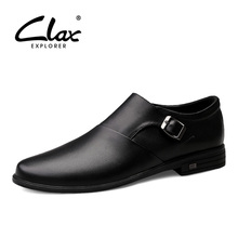 CLAX Mens Dress Shoes Pointed Toe 2019 Spring Autumn Genuine Leather Male Formal Shoe Man's Shoe Wedding Footwear Oxfords цены онлайн
