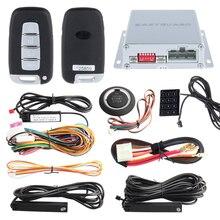 433.92 МГЦ ПКЕ пассивный keyless entry автомобильная сигнализация комплект с Сенсорным ввода пароля, дистанционный запуск двигателя и кнопка старт/стоп