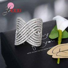 Bague de fiançailles en argent Pour Femmes, Design croisé, anneau de luxe avec pierres