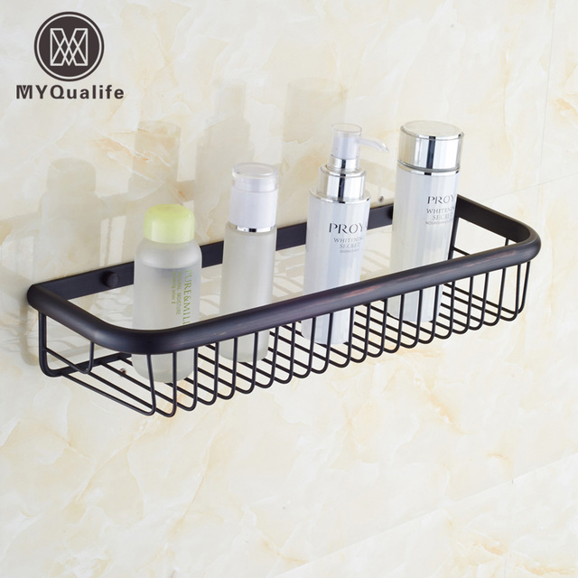Free Shipping Oil Rubbed Bronze Wall Mount Bathroom Storage & Holder ...