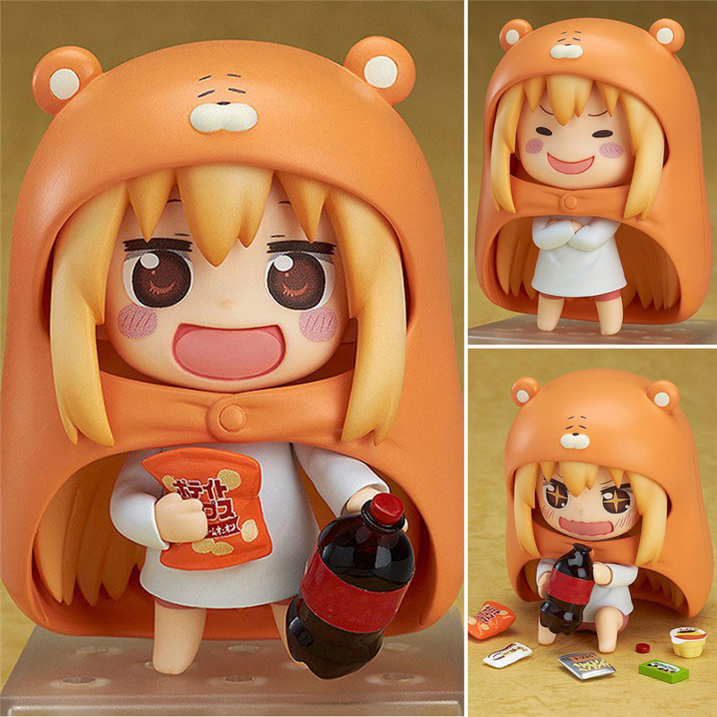 10cm Japanese Anime Himouto Figure U M R Cute Nendoroid Doma Umaru PVC Action figure Model Toy free shipping 4 nendoroid anime himouto umaru chan doma umaru boxed 10cm pvc acton figure collection model doll toy gift 524