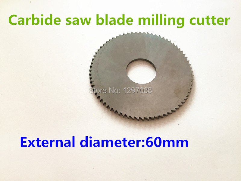 1pcs Solid carbide Saw blade Milling cutter 40/50/60mm thickness 13/16mm Inner hole 72T 1pc hhs cylindrical milling cutter d80 32 h100 milling tool inner hole 32mm