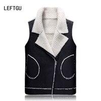 LEFTGU Men S Vests 2017 New Brand Fashion Oblique Zipper Autumn Winter Coats 3 Colors Vest