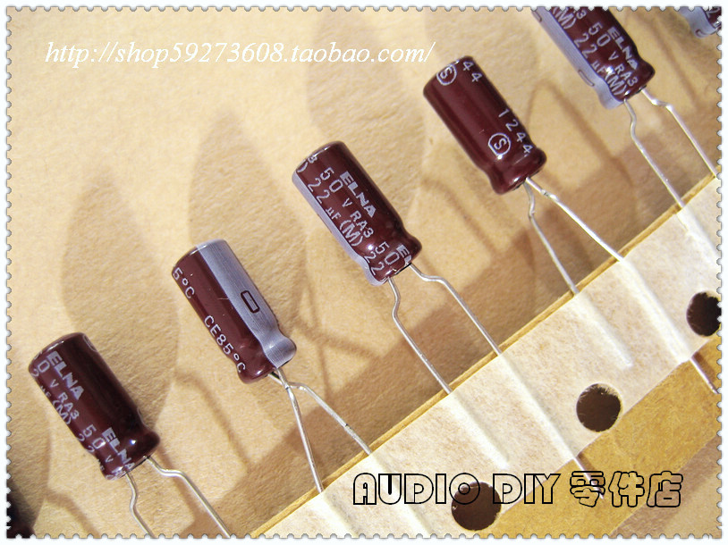 2018 hot sale 30PCS 50PCS ELNA RA3 Series Electrolytic Capacitors for 22uF 50V Audio free shipping in Capacitors from Electronic Components Supplies