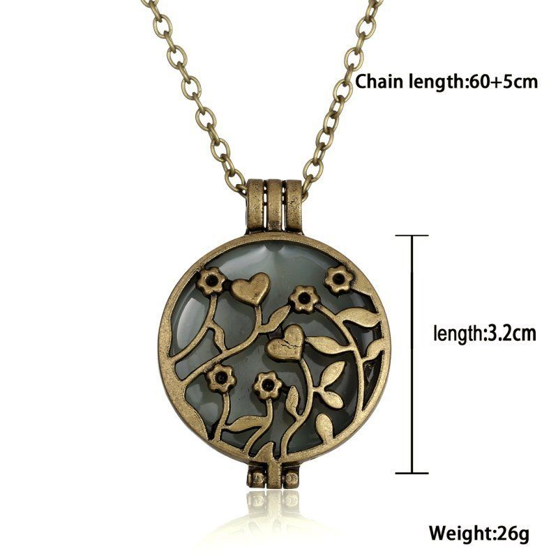 glass product necklaces wholesale perfume frames choker multicolor round lockets optional floating chain charm transparent locket pendants necklace flower