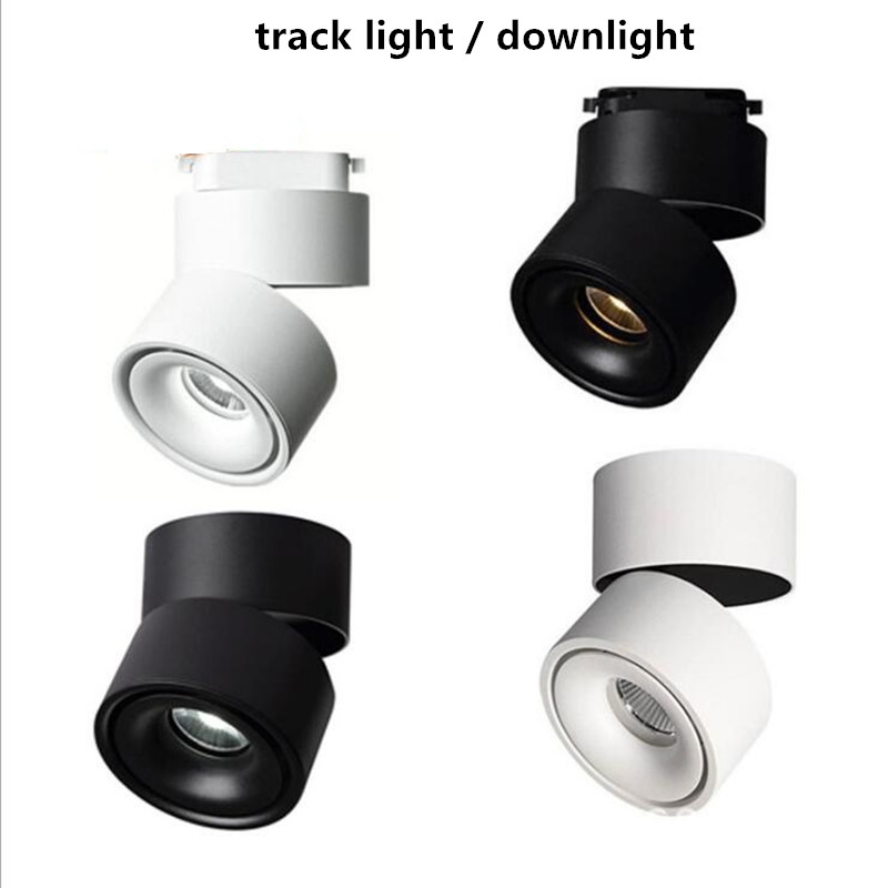 15w 20w 2 Rail track light COB led track light AC100-240V down light 3000k 4000k 6000k 110lm/w 6pcs/lot free shipping via DHL free shipping ip20 2 13w cut out 262 124mm 40degree citizen cob led grille down light
