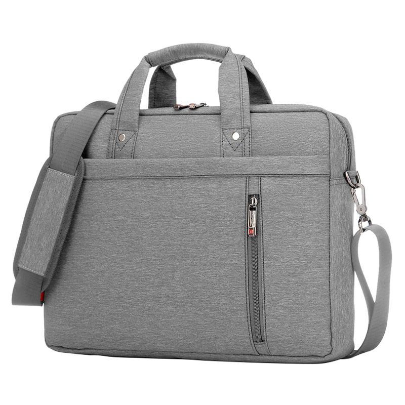 13 Inch big size Nylon Computer Laptop Solid Notebook Tablet Bag Bags Case Messenger Shoulder unisex men women Durable (Gray)