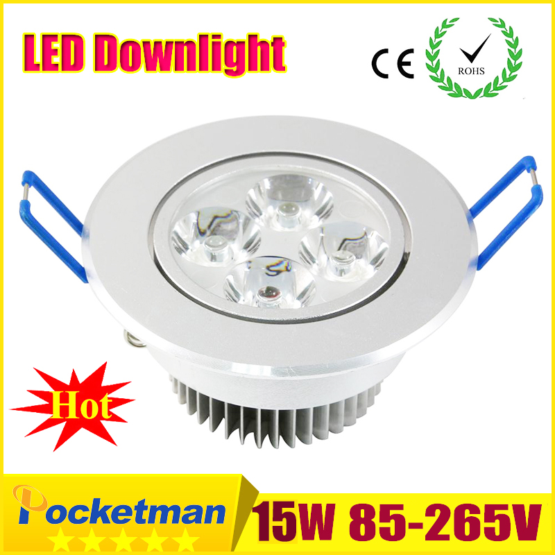 2018 HOT LED Down down light 9W 12W 15W LED Spotlight Empotrable Gabinete Pared Spot Lámpara de techo Frío blanco cálido para iluminación del hogar z50