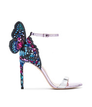 Sexy Thin High Heels Ankle Strap Women Gladiator Sandals Mix Colors Butterfly Wings Ladies Party Wedding Shoes Sandalias