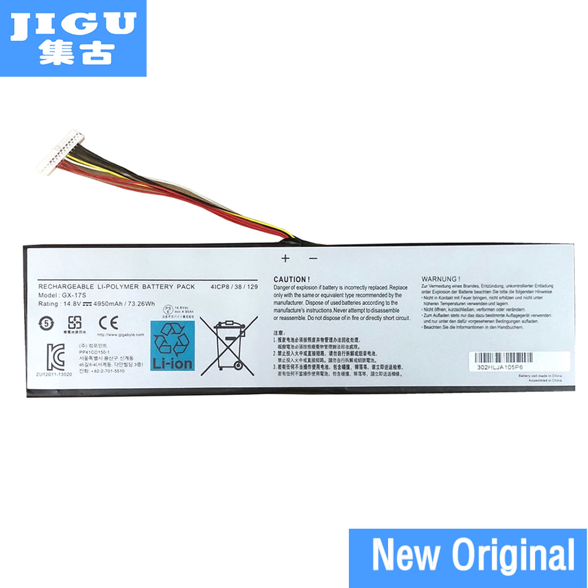 JIGU 14.8V 73.26WHGX-17S Original Laptop Battery For GIGABYTE For AORUS X3 Plus V5 V3 For Aorus X7 X3 Plus v7-KL3K4 14 8v 73 26wh 4950mah gx 17s new original gx 17s laptop battery for gigabyte aorus x3 x3 plus v3 x7 x7 v2 x3 plus v5 x5s