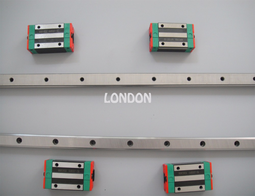 2pcs Taiwan hiwin linear rail HGR20- 600mm with 4pcs HGH20CA carriage free shipping to argentina 2 pcs hgr25 3000mm and hgw25c 4pcs hiwin from taiwan linear guide rail