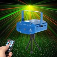 Smuxiポータブルステージライトオート/音声ledレーザープロジェクターステージ照明効果dj ktvパーティークリスマスの装飾+リモート制御