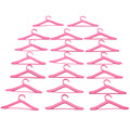 Lot 20 Pcs Pink Hangers Dress Clothes Accessories For Barbie Doll Pretend Play Girls' Gift