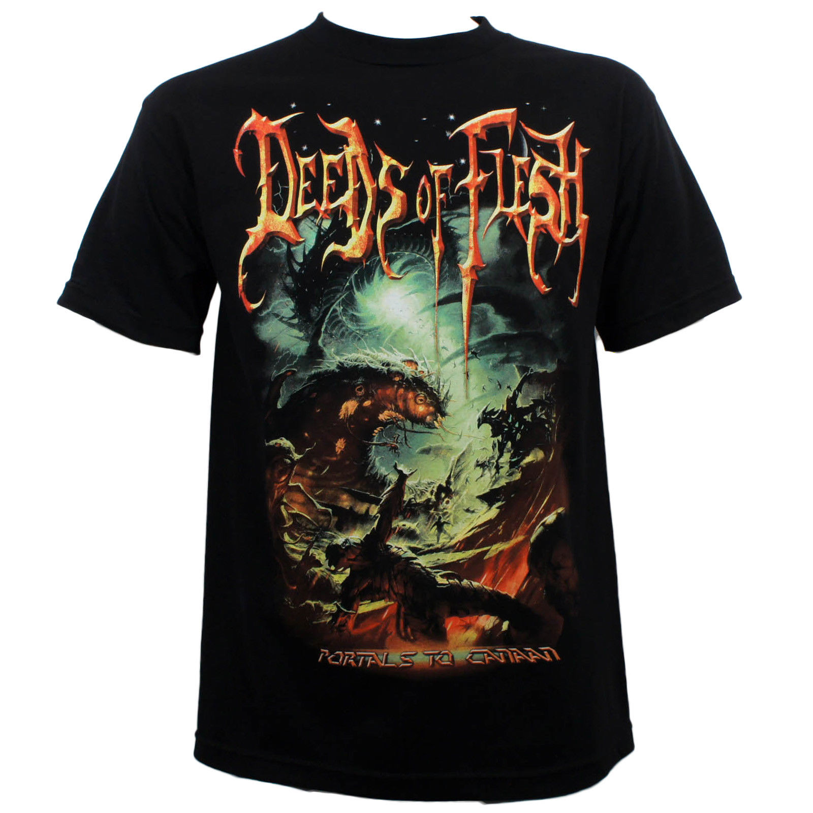 Authentic Deeds of Flesh Band Portals To Canaan Album Cover T-Shirt 2018 New Fashion MenS T-Shirts Short Sleeve