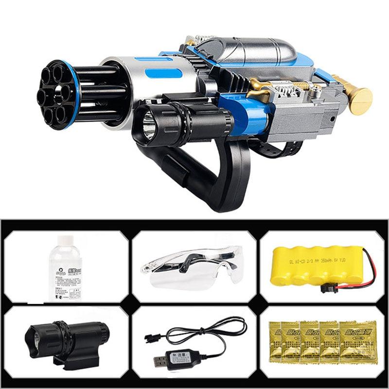 Électrique télescopique éclate Gatling canon à eau jouet pistolets Air balle molle arme pour enfants garçon extérieur CS jeu Paintball cadeaux - 6