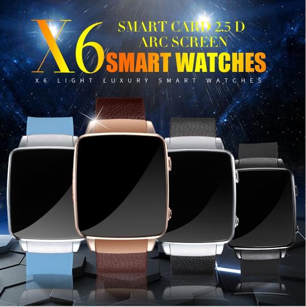 Prix pour 2017 Nouveau Bluetooth Smart Watch X6 Smartwatch sport montre Pour iPhone Android Téléphone Avec Support de Caméra Carte SIM Montre-Bracelet PK Q18