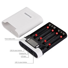 HAWEEL DIY 4x 18650 Battery Portable 10000mAh Power Bank Shell Box 2 USB Output & Display for iPhone / Galaxy Without Battery