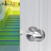 Probrico атласные никелевые дверные ручки замок для прохода Передний Задний рычаг защелка из нержавеющей стали без ключа дверная фурнитура для прохода