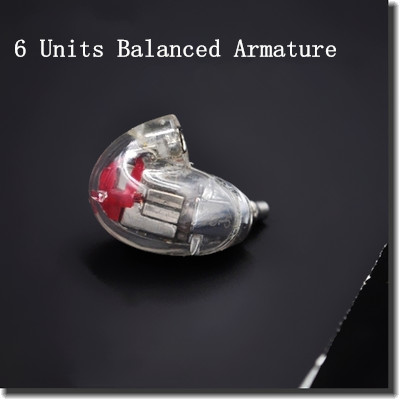 DIY AK846 6BA In Ear Headset Balanced Armature Earphone Customer Made In Ear Headset With MMCX Upgraded From SE846 5 Units