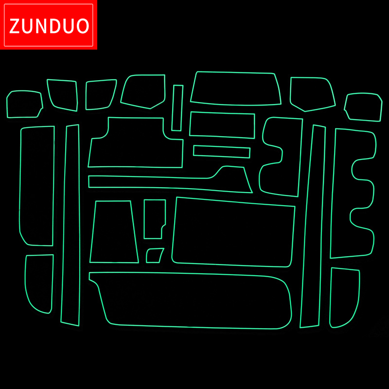 ZUNDUO Gate slot pad Mat For HONDA STEP WGN Car Door Groove Non slip Mats Interior
