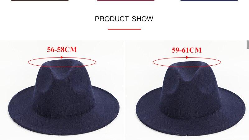 4d73bfed644e8 Hombres sombreros de color sólido sombreros grandes a lo largo del ...