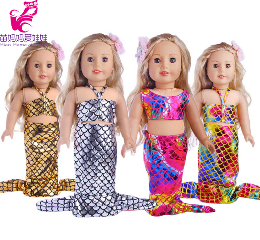 Doll Clothes Set Mermaid dress for 18 inch American girl doll doll for 18 doll dress up set accessory 9 colors american girl doll dress 18 inch doll clothes and accessories dresses