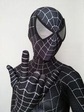 купить Black Raimi Spider-Man Costume 3D Print Spiderman Superhero Cosplay Costume Zentai Bodysuit for Adult/Kids Custom Made дешево