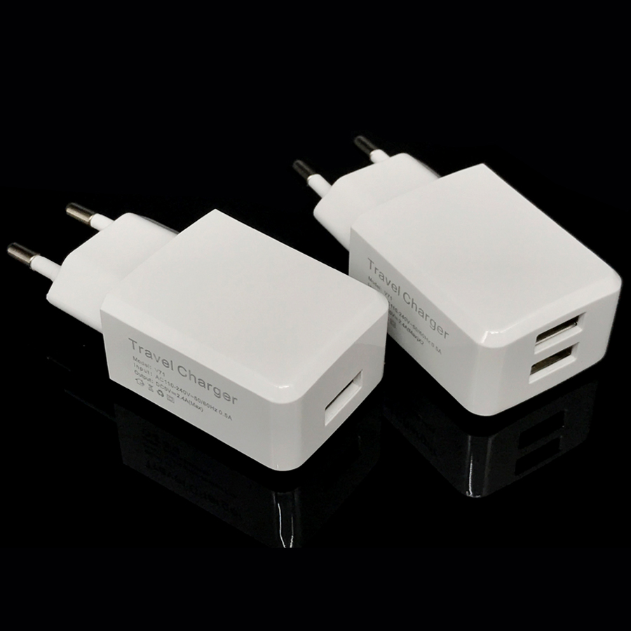 EU Travel USB Charger 5V 2.4A For Apple iPhone X 7 6 6s Plus iPad Samsung Galaxy S8 Xiaomi
