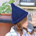 2016 Nuevas señoras de la gorrita tejida skullies sombreros de invierno para las mujeres ocasionales lindos de invierno señaló cap crochet bonete