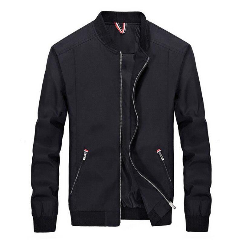 2019 весенняя куртка Для мужчин мода Slim Fit Легкая куртка на молнии Водонепроницаемый куртка Повседневное мужской верхней одежды Casaco Masculino 4XL