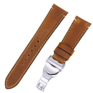 Image 5 - Rolamy Correa de reloj de cuero auténtico para Tudor Seiko Omega, repuesto duradero de 20mm y 22mm